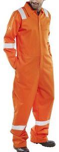 """Click Flame Retardant Anti-Static Nordic Design Coverall Orange - size 58"""" chest"""