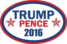 "Trump Pence 2016 bumper sticker label decal 6x4"" white gloss premium vinyl"