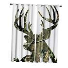 """Blackout Curtains Thermal Insulated Camo Deer Tree 27.5""""Wx39""""L Deer71494"""