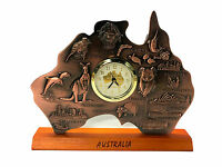 Australia Map Clock w Movement Australia Souvenir Clock Australian Gift In Box