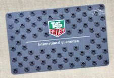 TAG Heuer BLANK International Guarantee Card Monaco Formula 1 Calibre Monza /