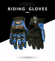 Pro-Biker Moto Cross Moto-Cross Course Protection Gants Noir Bleu Scooter