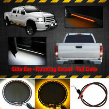 """2x White/Amber 48"""" 120-SMD LED Ambient Lighting Strips Running Board/Step Lights"""