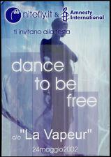 cartolina pubblicitaria PROMOCARD n.3055 NITEFLY LA VAPEUR DANCE MILANO