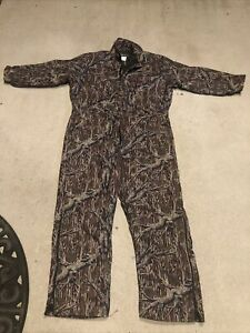 Vintage Gander Mountain Mossy Oak Treestand Coveralls MADE IN USA, Vintage New