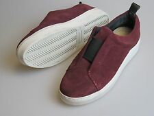 KURT GEIGER Burgundy Suede Leather Platform Slip On Shoes Men's EU 41 US 8