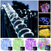 200 LED Starry String Solar Lights Fairy Copper Wire Tube Party Christmas 22M