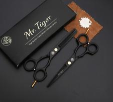 2 paires de ciseaux de coiffure professionnel coiffeur pro