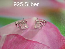 925 Silber Sturm Zirkon - Ohrstecker Ohrringe, Silber Strass, Hochzeit Liebe