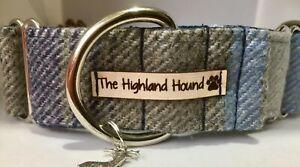 """2"""" Oxford Handmade Martingale Dog Collar Greyhound, Whippet, Lurcher, Saluki"""
