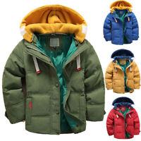 Toddler Kids Boys Winter Duck Down Coat Snowsuit Hooded Lightweight Jacket parka