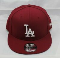 NEW ERA 9FIFTY SNAPBACK HAT/CAP.  MLB.  LOS ANGELES DODGERS.  BURGUNDY.