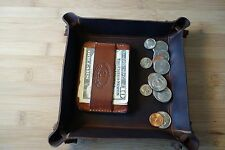 Valet tray HAND MADE PREMIUM  LEATHER , coin & key tray,Groomens gift