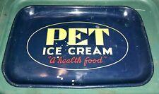 "Vintage Pet Ice Cream Metal Advertising Tray ""A health food�"