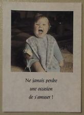 Carte postale Bébé eclat de rire  postcard baby laughing LOL