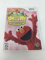 Sesame Street: Elmo's A-to-Zoo Adventure - Complete (Nintendo Wii, 2010)
