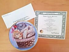 1991 Franklin Mint Three Kittens Plate by K. Duncan with papers