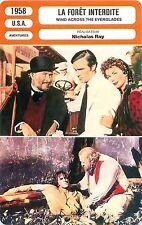 FICHE CINEMA FILM USA LA FORET INTERDITE/WIND ACROSS THE EVERGLADES Nicholas Ray