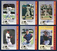 2000 Royal Rookies Lot of 6 Signature Series #1 8 21 31 39 Ryan Drese Autos