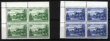 NORFOLK ISLAND 1959 DEFINITIVES SG6a+12a BLOCKS of 4 MNH
