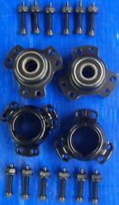 "Full Set Wheel Hub Black 5/8"" Front & 1 1/4"" Rear Go Kart Racing"