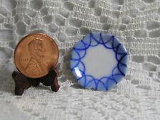 Miniature Dollhouse Ceramic Plate / Blue Pattern 072