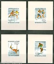 CHAD MONTREAL OLYMPIC GAMES 1976 SET OF FOUR  DELUXE SOUVENIR SHEETS MINT NH