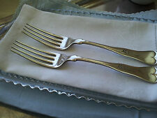 c. 1849~Antique Pair Silver Plate Dinner Forks…ANTIQUE/FIDDLE…1847 Rogers Bros