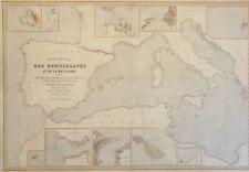 MEDITERRANEO. Carta generale del Mar Mediterraneo e del Mar Nero. J.B.Robiquet