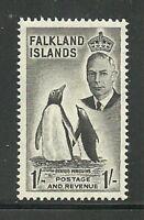 Album Treasures Falkland Is Scott # 115  1sh  George VI Penguins  Mint VLH