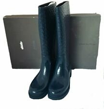Authentic Louis Vuitton LV Blue Splash Rubber Rain Boot 39 Euro/9 US rare