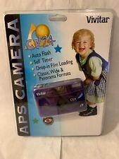 Vivitar Cv24 Aps Film Format Camera Grape 59787 New Sealed Vintage 2000