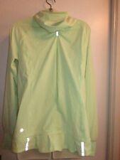 Lululemon 10 Lightened Up Half Zip Clear Mint Neon Green Jacket Bright Run Hood