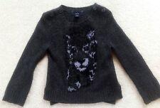 Stella mccartney for baby Gap leopard cashmere dark grey sweater boy/girl 2Y