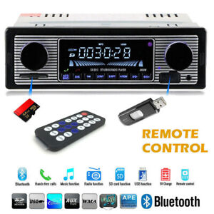 Car In-dash Bluetooth Radio Stereo Audio Head Unit Player MP3/USB/SD/AUX-IN/FM