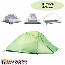 Weanas 3 Person 4 Season Dome Double Layer Tent Waterproof Camping Ultralight