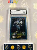 2003 Topps Chrome Jerry Rice #122 - 10 GEM MINT GMA Graded Football Card
