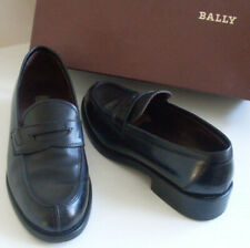 BALLY Womens Black Classic Penny Loafer Court Shoes Size EU 37 UK 4