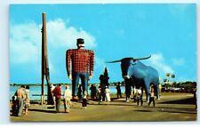 Giant Gun Ferris Wheel Paul Bunyan Babe Blue Ox Bemidji Minnesota Mn B22
