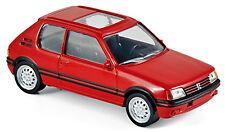 Peugeot 205 GTI 1986 red Youngtimers Norev Jet Car 1 43