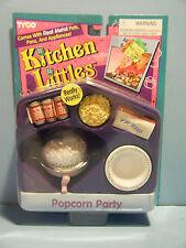 BARBIE KITCHEN LITTLES POPCORN PARTY SET *NEW*