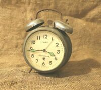 VINTAGE ALARM CLOCK RUHLA DUOCLOCK MADE IN GDR RARE DESK CLOCK BEAUTIFUL #117