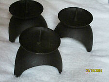 Six Sturdy Black Cast Iron Candle Holders Some Easy Assembly