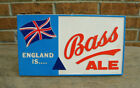 Vintage 'England is Bass Ale' Plastic Sign Imported by Guinness Harp Corp. NY