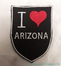 Embroidered Retro Vintage Style I Love Arizona AZ State Pride Patch Iron On USA