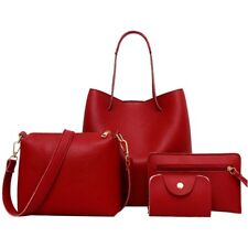 Women Lady Leather Handbag Shoulder Bags Tote Purse Messenger Satchel Set 4pcs