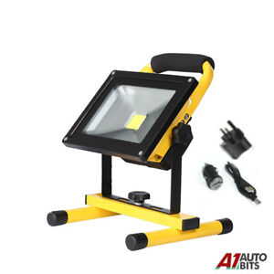 20W LED Rechargeable Cordless Work Site Flood Light Mobile Portable Camping Lamp