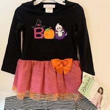Bonnie Jean Baby Girl 24M Halloween Legging Set Orange Bow Petticoat Skirt New