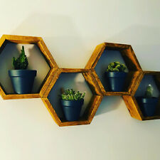 Rustic Hexagon Honeycomb Shelf Pallet Shelve Handmade MJCrafting