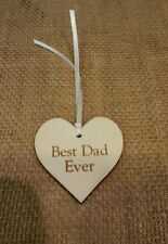 Wooden Gifts Tags Best Dad Ever. Fathers Day